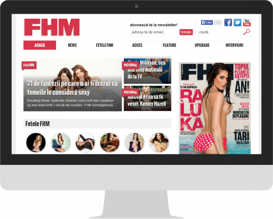 FHM.ro on an iMac