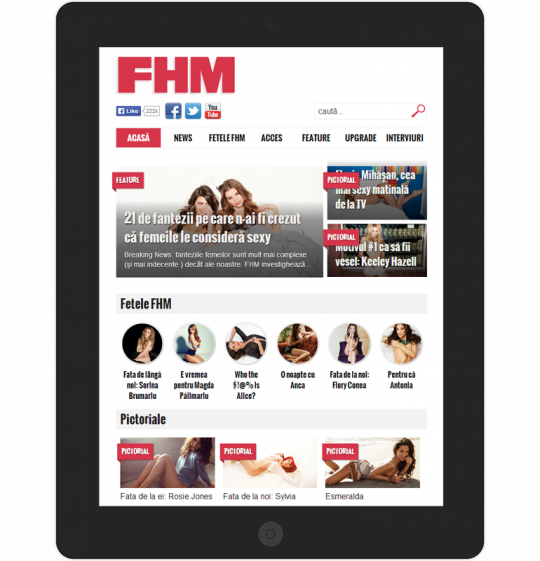 FHM.ro on an iPad