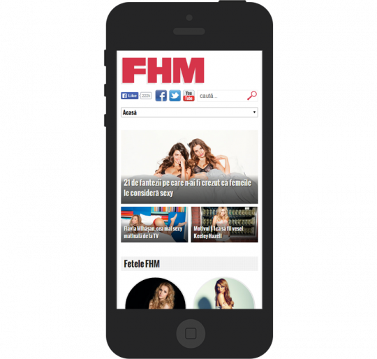 FHM.ro on an iPhone