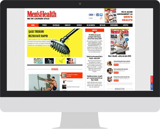 Men's Health on an iMac