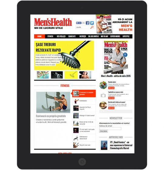 Men's Health on an iPad