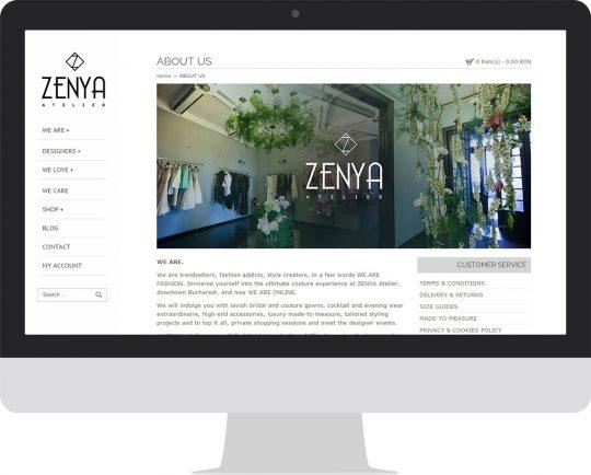 Zenya.ro on an iMac