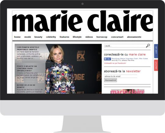 Marie Claire on an iMac