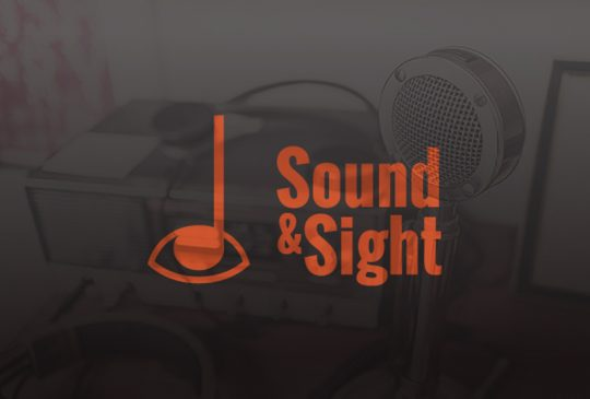 Sound&Sight logo over audio equipment
